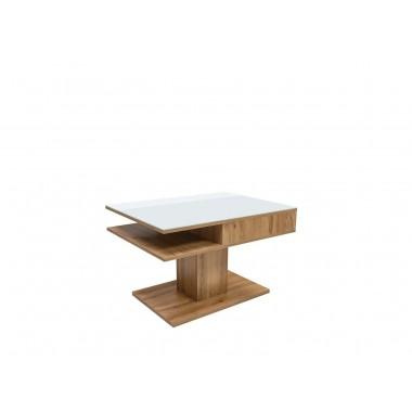 Campo dohányzóasztal, wotan tölgy/fehér vagy áprilisi tölgy/fekete színben