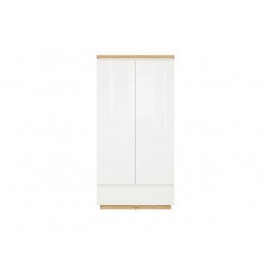 Erla SZF2D1S szekrény, minerva tölgy/fényes fehér