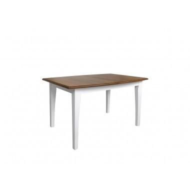 Kalio STO nyitható étkezőasztal 135-180 cm, fehér/arany akác