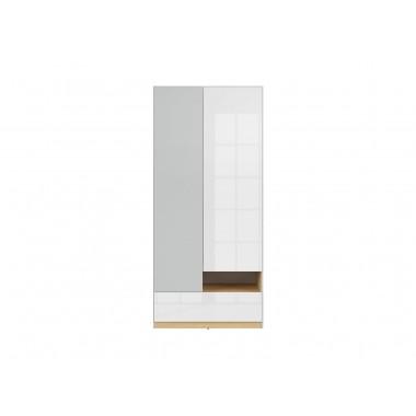 Nandu SZF2D1S szekrény, lengyel tölgy/fényes fehér
