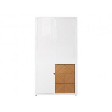 Rovika SZF2D2S szekrény, natúr tölgy/fényes fehér