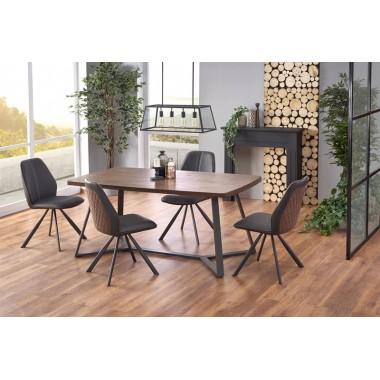Caruzzo étkezőasztal, sötét dió/fekete, 180x90