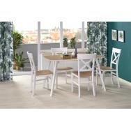 Kajetan 2 nyitható étkezőasztal mézes tölgy/fehér, 135-185/82 cm