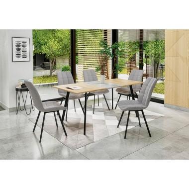 Albon étkezőasztal sonoma tölgy/szürke, 120-160 cm