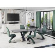 Fangor nyitható étkezőasztal 160-220/90 cm, sötét szürke