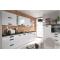 Family Line Tafne konyhaösszeállitás, magasfényű fehér 120x275 cm