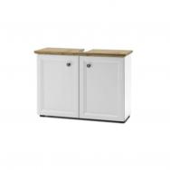 Toskana mosdó alatti szekrény, fehér/artisan tölgy
