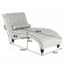 Gregor stílusos pihenő fotel Bluetooth hangszóróval, világos szürke szövet