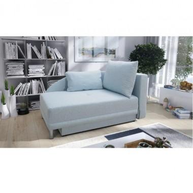 Kinyitható kanapé jobbos, világoskék, LAUREL, 149 cm