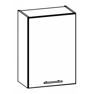 Tiffany T5/G50 konyhaszekrény, fehér/fényes fehér
