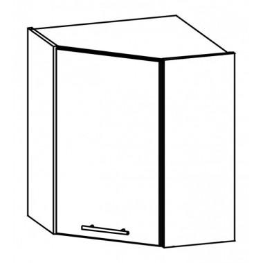 Tiffany T12/G60NW konyhaszekrény, fehér/fényes fehér