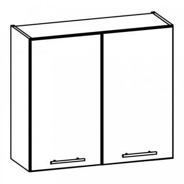 Tiffany T11/G80 konyhaszekrény, fehér/fényes fehér