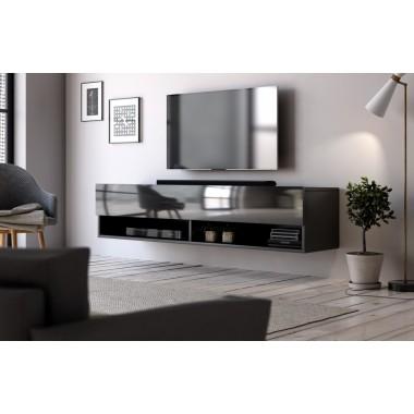 Derby 140 lebegő tv állvány, fényes fehér, fényes fekete vagy wotan tölgy színben