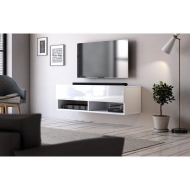 Derby 100 lebegő tv állvány, fényes fehér, fényes fekete vagy wotan tölgy színben