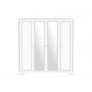 White SZF4D gardróbszekrény, havas kőris/ezüst fenyő színben