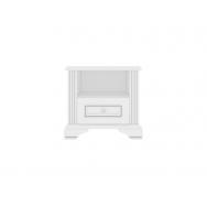 White KOM1S éjjeliszekrény, havas kőris/ezüst fenyő színben