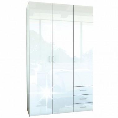 3-ajtós szekrény, fehér extra magas fényû HG, GWEN 70427