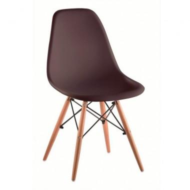Modern szék, bükk+ mûanyag, szín: sötétbarna, CINKLA 2 NEW